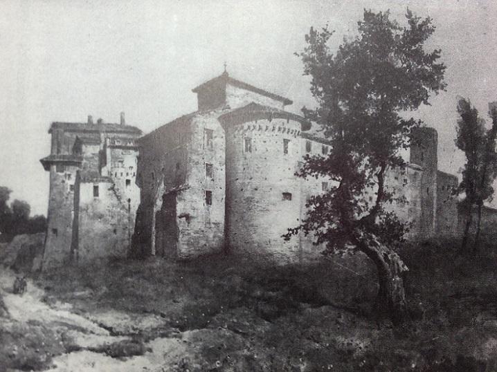 Santi Quattro Coronati en 1884 (Musée de Rome au Trastevere)