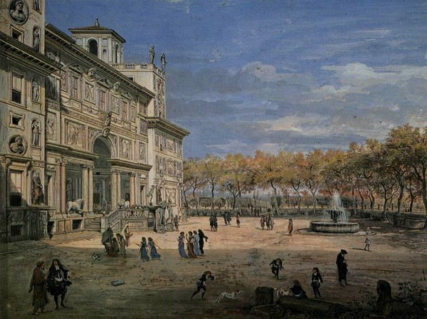 La Villa Médicis par Gaspar van Wittel