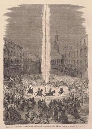 Le Carnaval d'Ivrea en 1866