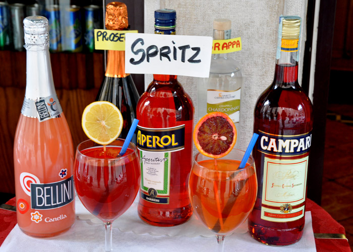 The Campari Mint Spritz Recipe — Dishmaps