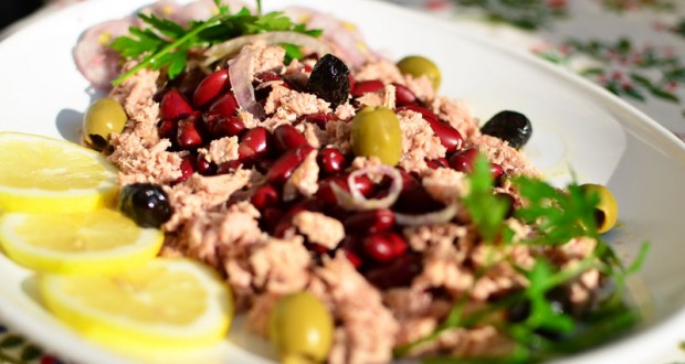 Tonno con fagioli, une salade aux haricots roux de Toscane