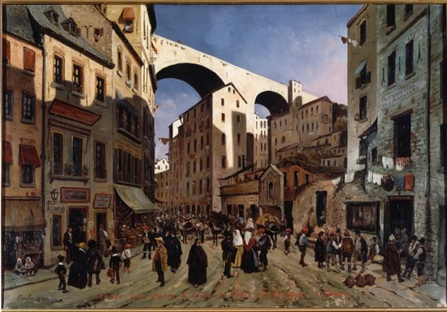 Gênes au 19e Siècle, par Pieter van Loon.