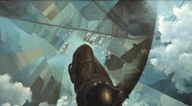 Tullio Crali - Avant l'ouverture du parachute - 1939