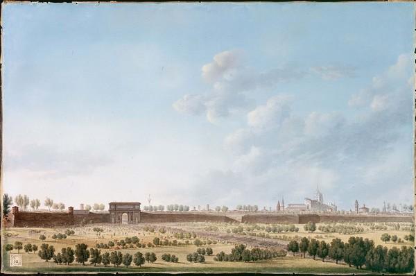 L'entrée des troupes de Napoléon à Milan par Pietro Bagetti