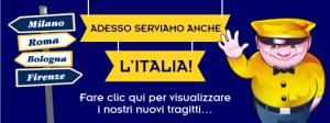 Le bus low-cost – Megabus arrive en Italie