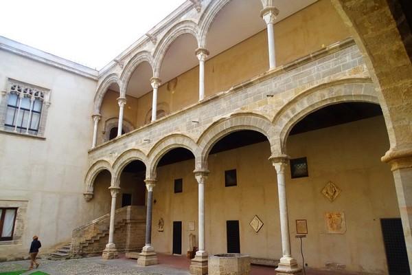 La cour du Palais Abatellis